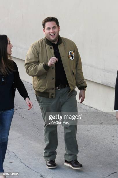Actor Jonah Hill is seen on April 9 2014 at in Los Angeles California