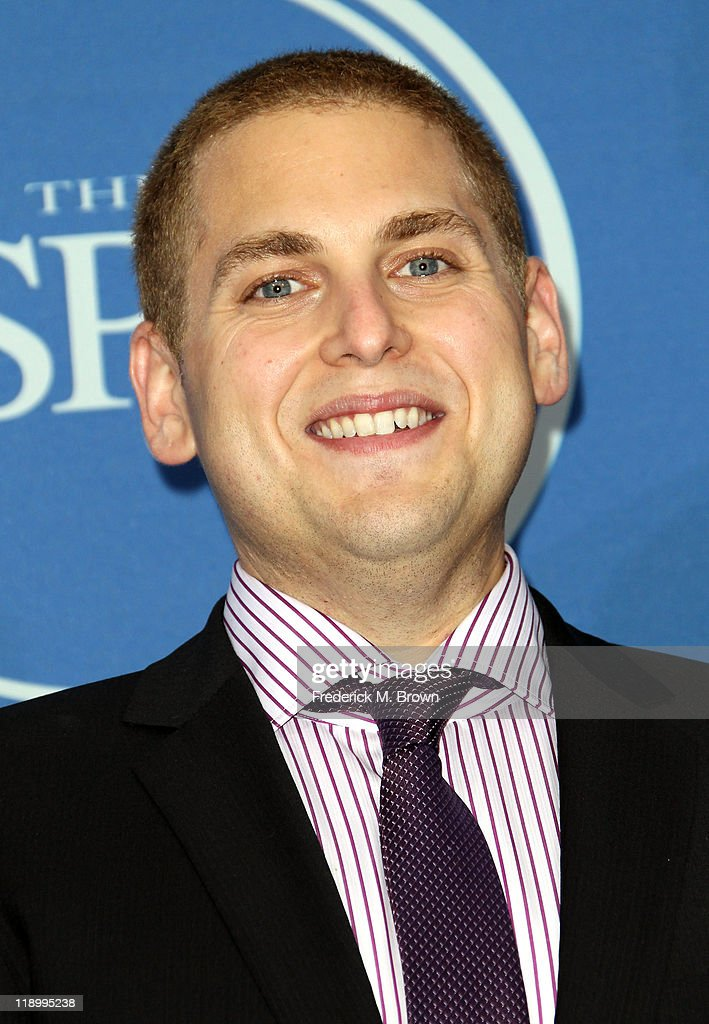 Actor Jonah Hill poses in the press room at The 2011 ESPY Awards at Nokia Theatre L.A. Live on July 13, 2011 in Los Angeles, California.