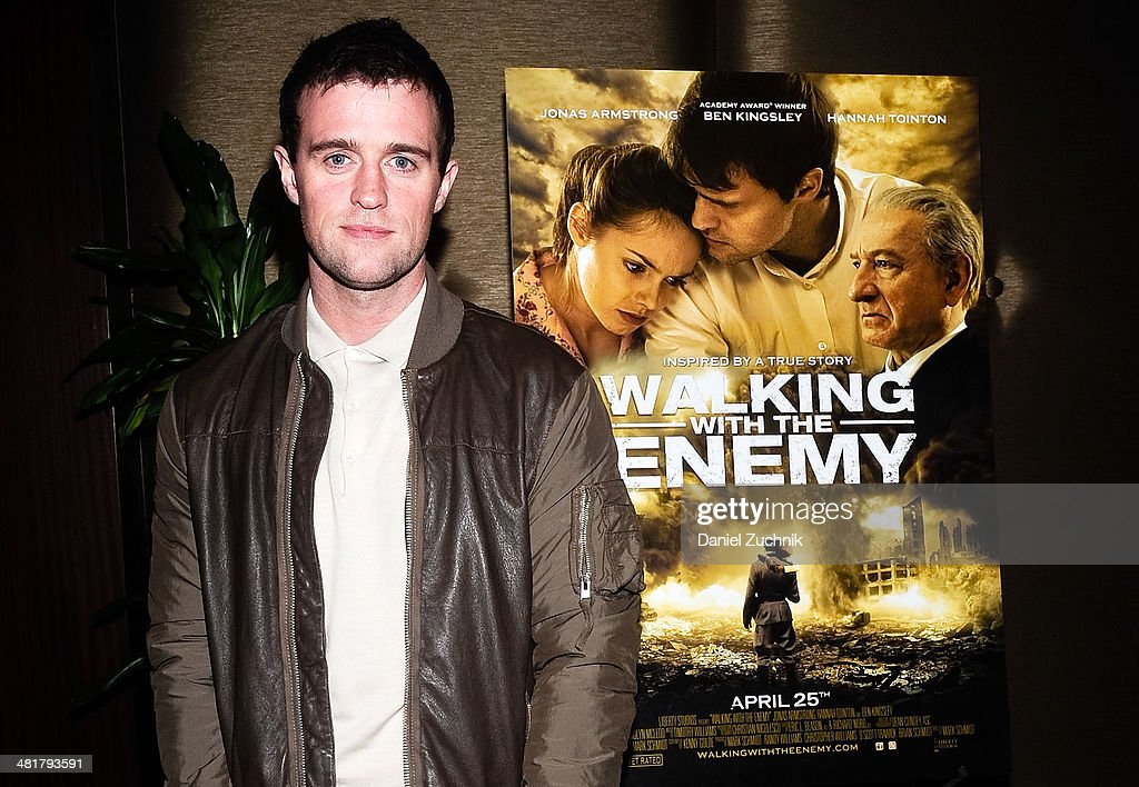 Actor Jonas Armstrong attends the 'Walking With The Enemy' screening at Dolby 88 Theater on March 31, 2014 in New York City.