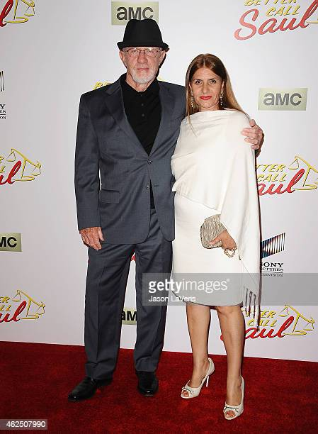 Actor Jonathan Banks and wife Gennera Banks attend the premiere of 'Better Call Saul' at Regal Cinemas LA Live on January 29 2015 in Los Angeles...