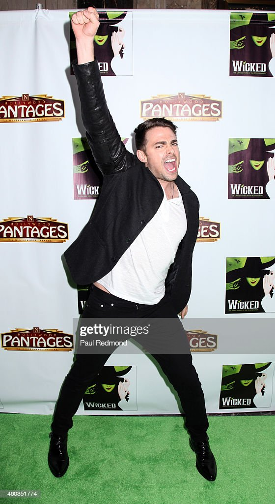 Actor <a gi-track='captionPersonalityLinkClicked' href=/galleries/search?phrase=Jonathan+Bennett&family=editorial&specificpeople=233425 ng-click='$event.stopPropagation()'>Jonathan Bennett</a> arrives at Red Carpet Opening Night of 'Wicked' at the Pantages Theatre on December 11, 2014 in Hollywood, California.