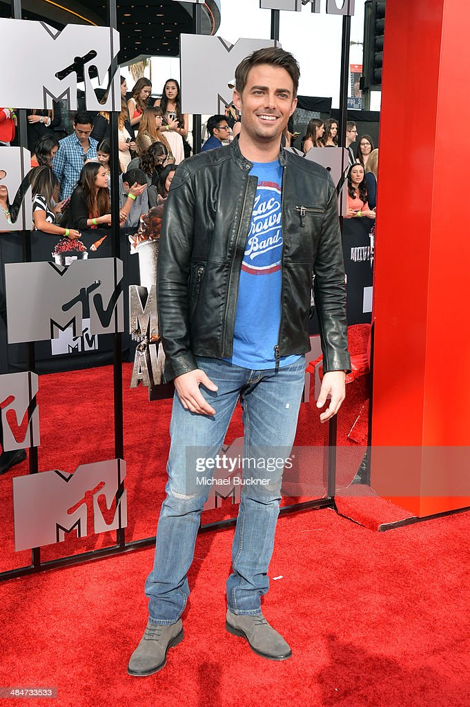 Actor <a gi-track='captionPersonalityLinkClicked' href=/galleries/search?phrase=Jonathan+Bennett&family=editorial&specificpeople=233425 ng-click='$event.stopPropagation()'>Jonathan Bennett</a> attends the 2014 MTV Movie Awards at Nokia Theatre L.A. Live on April 13, 2014 in Los Angeles, California.