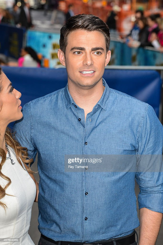 Actor <a gi-track='captionPersonalityLinkClicked' href=/galleries/search?phrase=Jonathan+Bennett&family=editorial&specificpeople=233425 ng-click='$event.stopPropagation()'>Jonathan Bennett</a> leaves the 'Good Morning America' taping at the ABC Times Square Studios on October 21, 2014 in New York City.