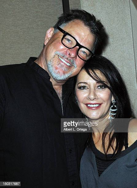 Actor Jonathan Frakes and actress Marina Sirtis participate in the 11th Annual Official Star Trek Convention day 4 held at the Rio Hotel Casino on...