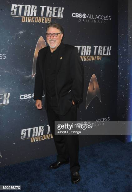 Actor Jonathan Frakes arrives for the Premiere Of CBS's 'Star Trek Discovery' held at The Cinerama Dome on September 19 2017 in Los Angeles California