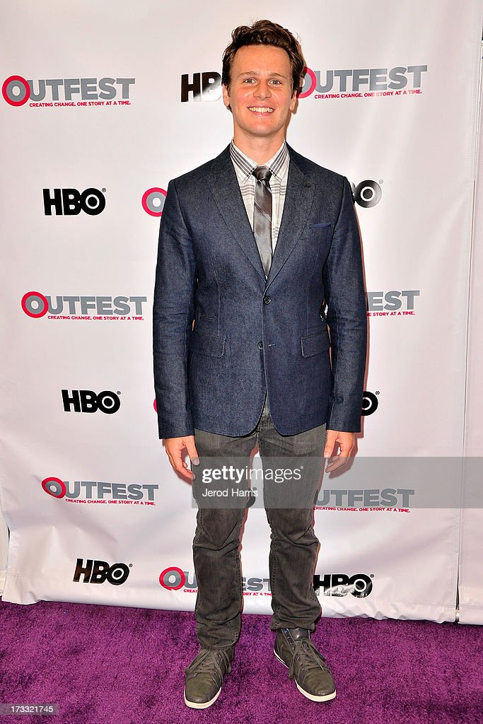 Actor <a gi-track='captionPersonalityLinkClicked' href=/galleries/search?phrase=Jonathan+Groff+-+Actor&family=editorial&specificpeople=2994250 ng-click='$event.stopPropagation()'>Jonathan Groff</a> arrives at the Outfest Opening Night Gala of 'C.O.G.' at Orpheum Theatre on July 11, 2013 in Los Angeles, California.