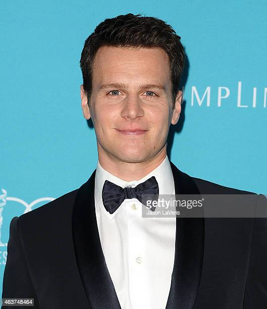 Actor Jonathan Groff attends the 17th Costume Designers Guild Awards at The Beverly Hilton Hotel on February 17 2015 in Beverly Hills California