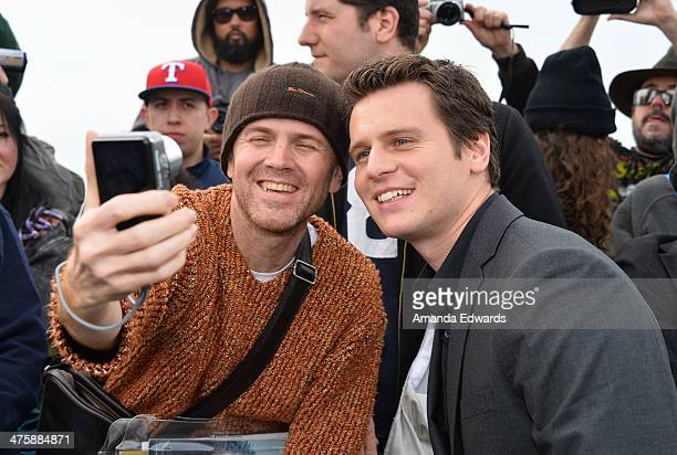 Actor Jonathan Groff attends the 2014 Film Independent Spirit Awards at Santa Monica Beach on March 1 2014 in Santa Monica California