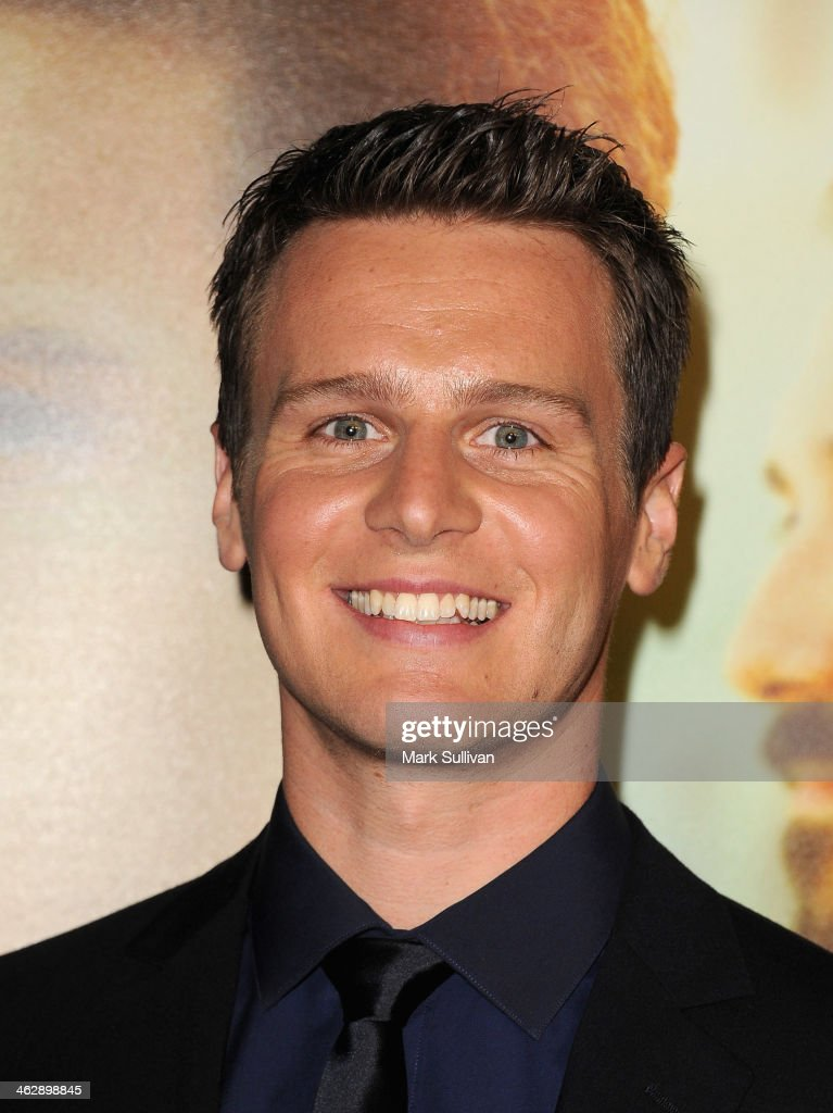 Actor Jonathan Groff attends the Los Angeles Premiere of HBO's new series 'Looking' at Paramount Theater on the Paramount Studios lot on January 15...