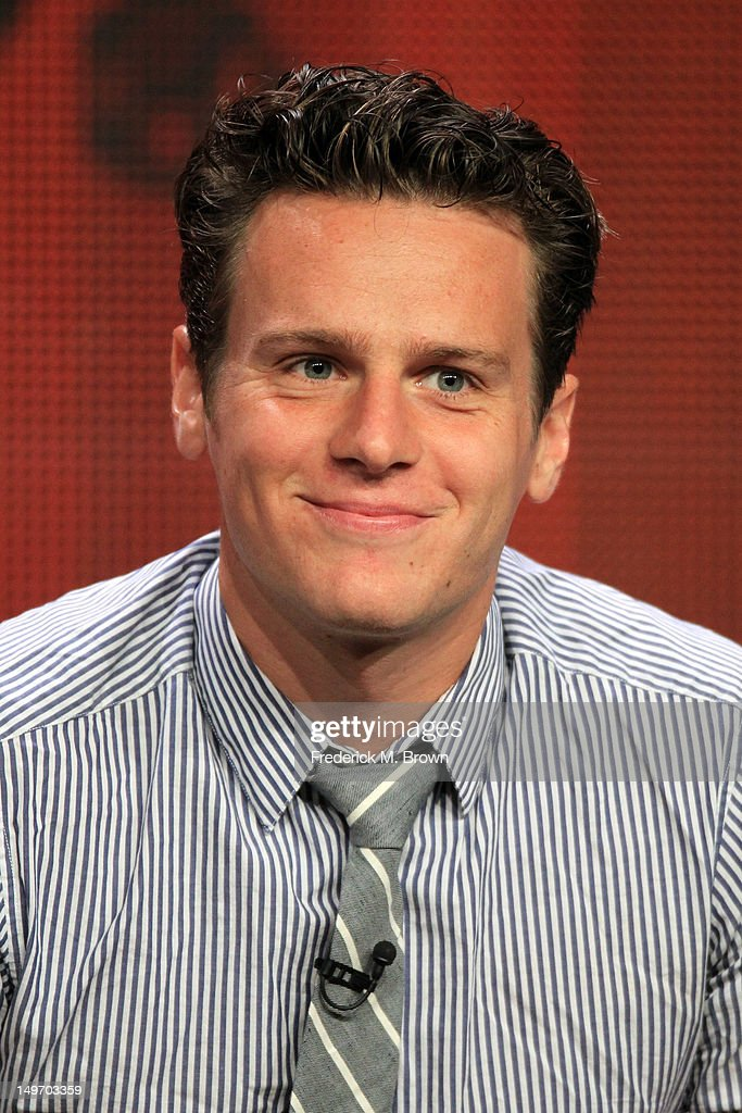 Actor <a gi-track='captionPersonalityLinkClicked' href=/galleries/search?phrase=Jonathan+Groff&family=editorial&specificpeople=2994250 ng-click='$event.stopPropagation()'>Jonathan Groff</a> speaks at the 'Boss' discussion panel during the Starz portion of the 2012 Summer Television Critics Association tour at the Beverly Hilton Hotel on August 2, 2012 in Los Angeles, California.