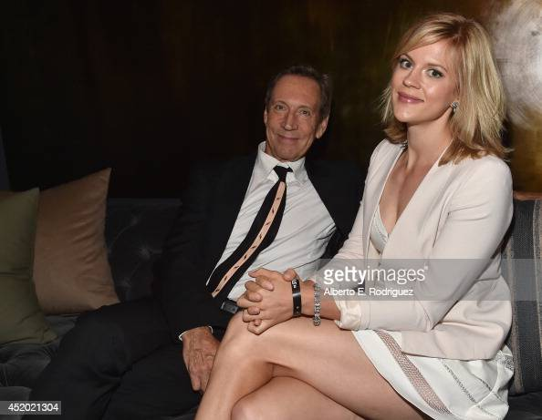 Actor Jonathan Hyde and actress Georgia King attend the after party for the premiere of FX's 'The Strain' at the DGA Theater on July 10 2014 in Los...