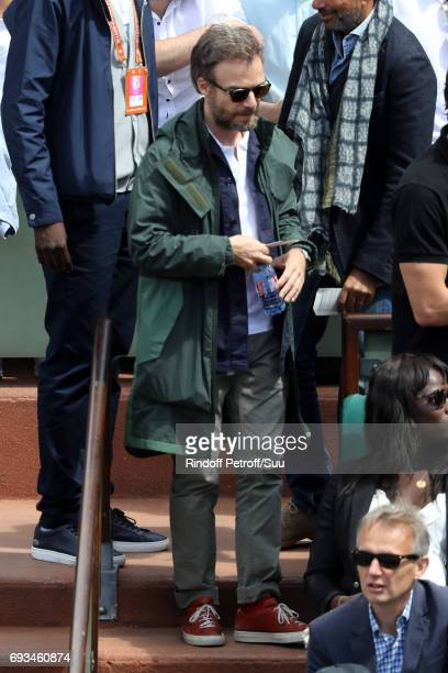 Actor Jonathan Lambert is spotted at Roland Garros on June 7 2017 in Paris France
