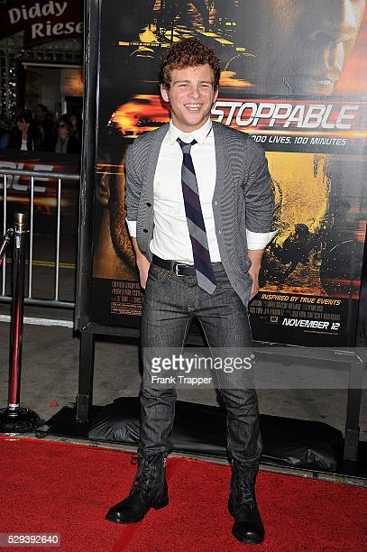 Actor Jonathan Lipnicki arrives at the premiere of 'Unstoppable' held at the Regency Village Theater in Westwood