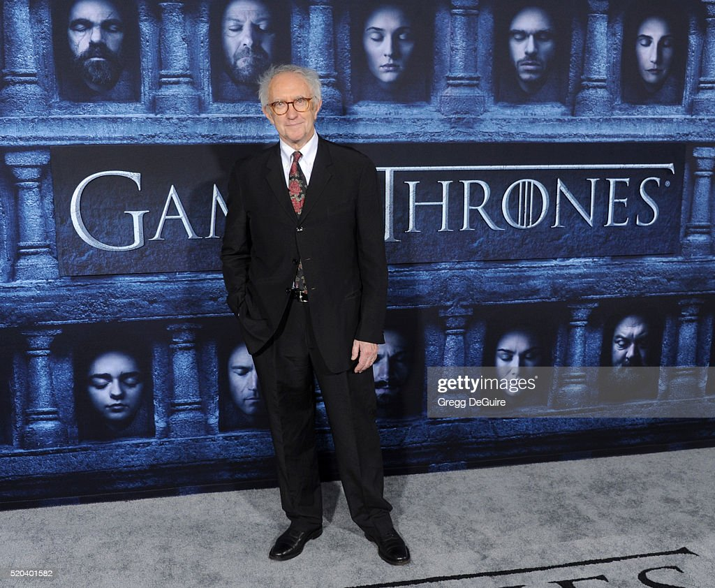 Actor <a gi-track='captionPersonalityLinkClicked' href=/galleries/search?phrase=Jonathan+Pryce&family=editorial&specificpeople=209115 ng-click='$event.stopPropagation()'>Jonathan Pryce</a> arrives at the premiere of HBO's 'Game Of Thrones' Season 6 at TCL Chinese Theatre on April 10, 2016 in Hollywood, California.