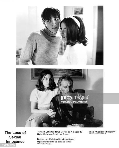 Actor Jonathan Rhys Meyers and actress Kelly Macdonald actress Kelly Macdonald and actor Bernard Hill on set of the movie 'The Loss of Sexual...