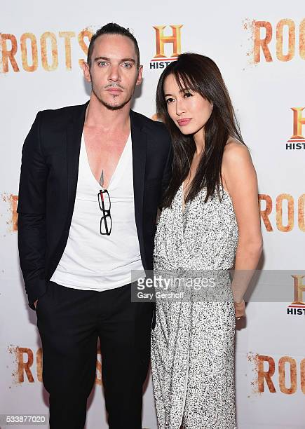 Actor Jonathan Rhys Meyers and Mara Lane attend the 'Roots' night one screening at Alice Tully Hall Lincoln Center on May 23 2016 in New York City