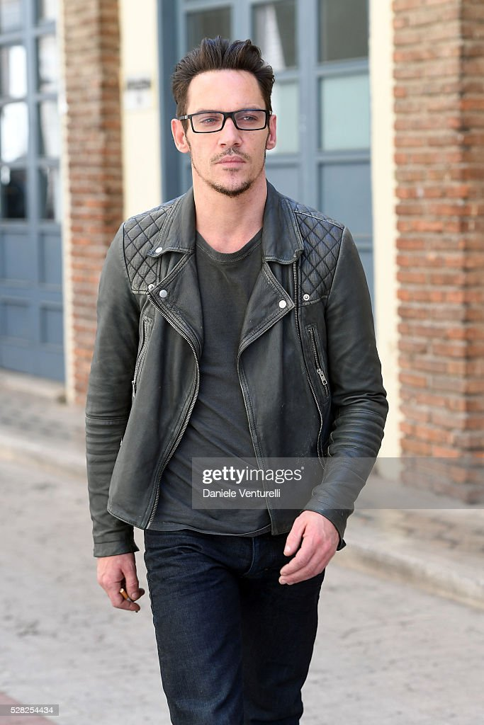 Actor Jonathan Rhys-Meyers poses on set of the movie 'BLACK BUTTERFLY' by AMBI Group on May 04, 2016 in Rome, .