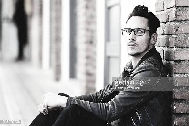 Actor Jonathan RhysMeyers poses on set of the movie 'BLACK BUTTERFLY' by AMBI Group on May 04 2016 in Rome