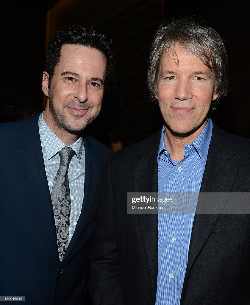 Actor <a gi-track='captionPersonalityLinkClicked' href=/galleries/search?phrase=Jonathan+Silverman&family=editorial&specificpeople=228073 ng-click='$event.stopPropagation()'>Jonathan Silverman</a> and writer/executive producer <a gi-track='captionPersonalityLinkClicked' href=/galleries/search?phrase=David+E.+Kelley+-+Producer&family=editorial&specificpeople=233677 ng-click='$event.stopPropagation()'>David E. Kelley</a> attend 'Monday Mornings' Premiere Reception at at BOA Steakhouse on January 24, 2013 in West Hollywood, California. (Photo by Michael Buckner/WireImage) 23200_001_MB_0100.jpg