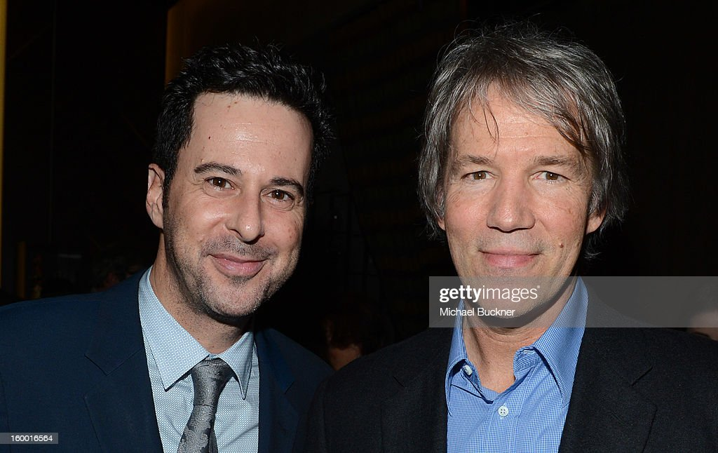 Actor Jonathan Silverman and writer/executive producer David E. Kelley attend 'Monday Mornings' Premiere Reception at at BOA Steakhouse on January 24, 2013 in West Hollywood, California. (Photo by Michael Buckner/WireImage) 23200_001_MB_0099.jpg