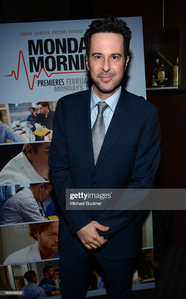 Actor <a gi-track='captionPersonalityLinkClicked' href=/galleries/search?phrase=Jonathan+Silverman&family=editorial&specificpeople=228073 ng-click='$event.stopPropagation()'>Jonathan Silverman</a> attends 'Monday Mornings' Premiere Reception at at BOA Steakhouse on January 24, 2013 in West Hollywood, California. (Photo by Michael Buckner/WireImage) 23200_001_MB_0142.jpg