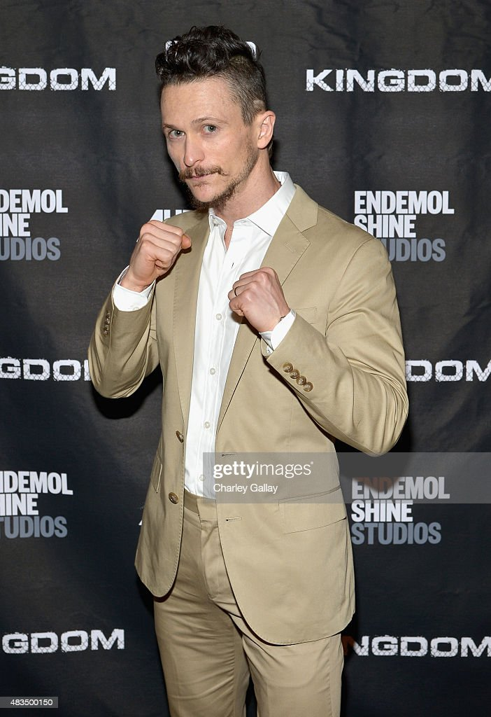 Actor Jonathan Tucker attends the DIRECTV's presentation of KINGDOM at the 2015 Summer TCA Press Tour at The Beverly Hilton Hotel on August 9 2015 in...