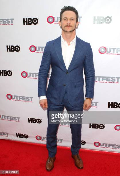 Actor Jonathan Tucker attends the opening night gala of 'God's Own Country' at the 2017 Outfest Los Angeles LGBT Film Festival at Orpheum Theatre on...