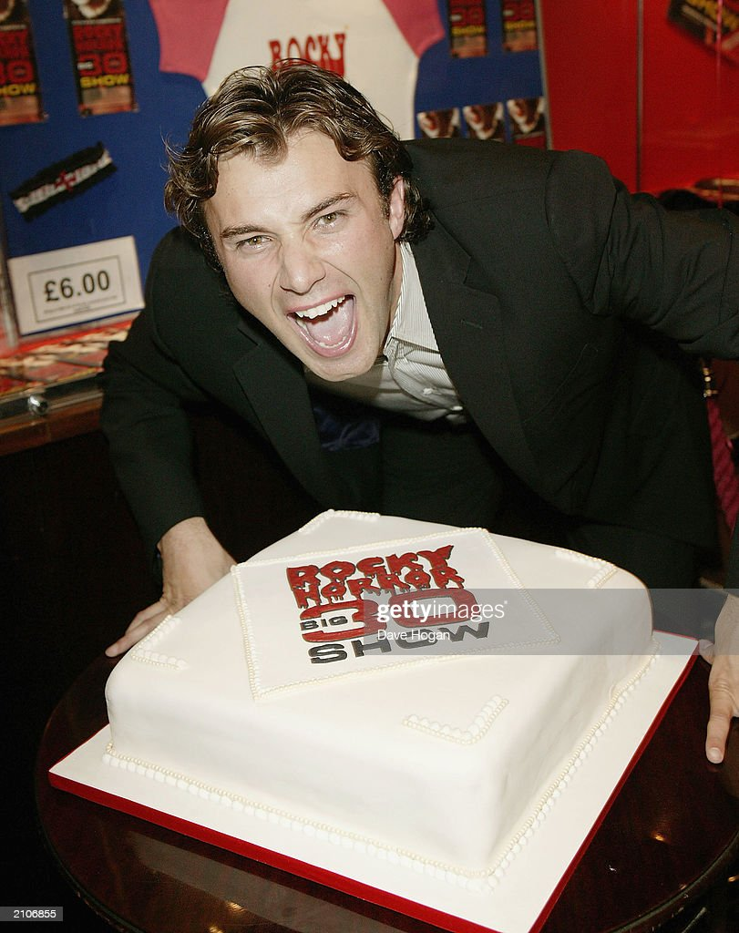 Actor Jonathan Wilkes attends the party for the 30th anniversary performance of 'The Rocky Horror Picture Show' on June 23, 2003 at Queens Theatre, London, England.