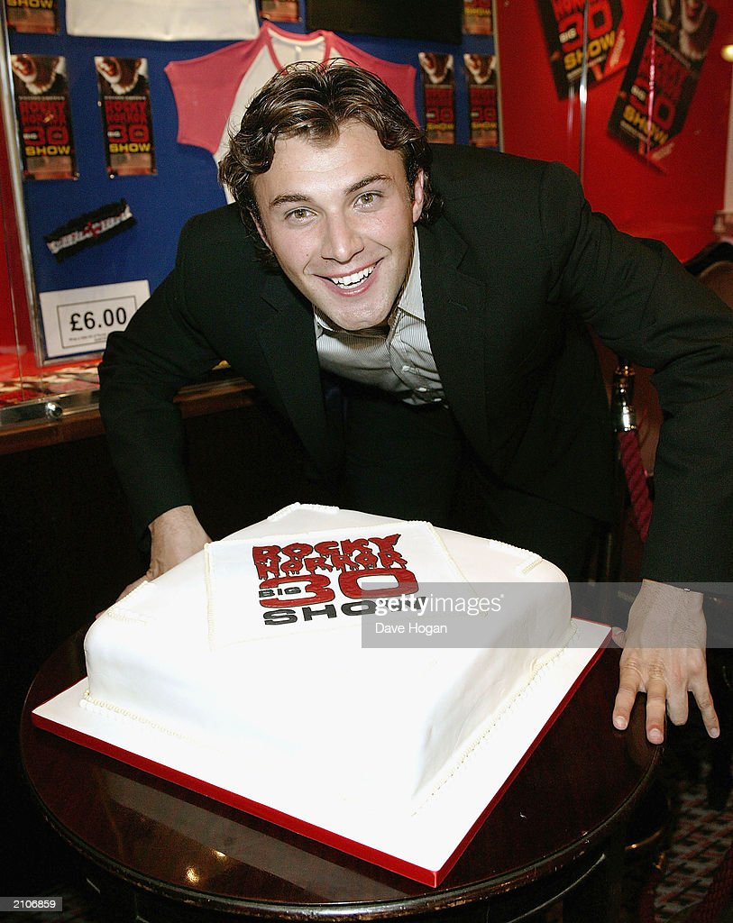 Actor <a gi-track='captionPersonalityLinkClicked' href=/galleries/search?phrase=Jonathan+Wilkes+-+Television+Presenter&family=editorial&specificpeople=12884306 ng-click='$event.stopPropagation()'>Jonathan Wilkes</a> attends the party for the 30th anniversary performance of 'The Rocky Horror Picture Show' on June 23, 2003 at Queens Theatre, London, England.