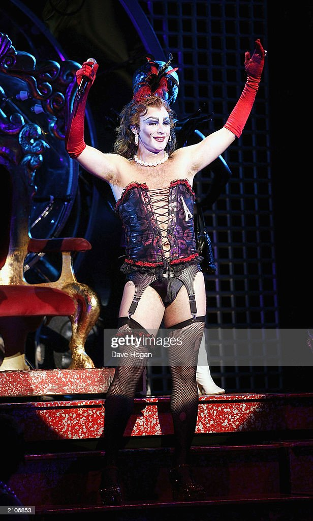 Actor Jonathan Wilkes Performs at the party for the 30th anniversary performance of 'The Rocky Horror Picture Show' on June 23, 2003 at Queens Theatre, London, England.