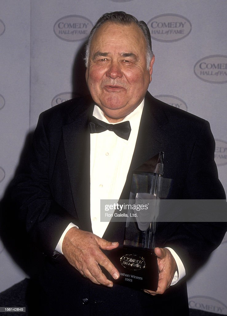 Actor <a gi-track='captionPersonalityLinkClicked' href=/galleries/search?phrase=Jonathan+Winters&family=editorial&specificpeople=938970 ng-click='$event.stopPropagation()'>Jonathan Winters</a> attends The First Annual Comedy Hall of Fame Awards Ceremony Honoring Carol Burnett, George Burns, Walter Matthau, <a gi-track='captionPersonalityLinkClicked' href=/galleries/search?phrase=Jonathan+Winters&family=editorial&specificpeople=938970 ng-click='$event.stopPropagation()'>Jonathan Winters</a>, Milton Berle, and Red Skelton on August 29, 1993 at Beverly Hilton Hotel in Beverly Hills, California.
