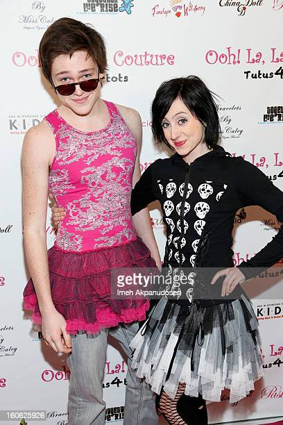 Actor Jonathon McClendon and actress Allisyn Ashley Arm attend the 4th Annual Tutus4Tots Event at Together We Rise on February 2 2013 in Chino...