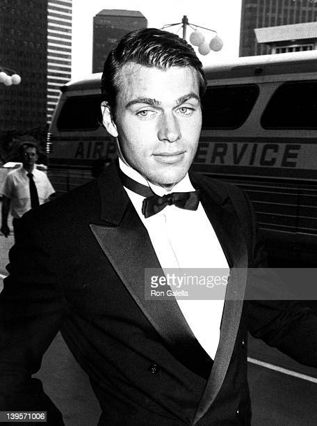 Actor JonErik Hexum attends Valentino Awards Gala Honoring Lauren Bacall and Gregory Peck on July 3 1984 at the Century Plaza Hotel in Century City...