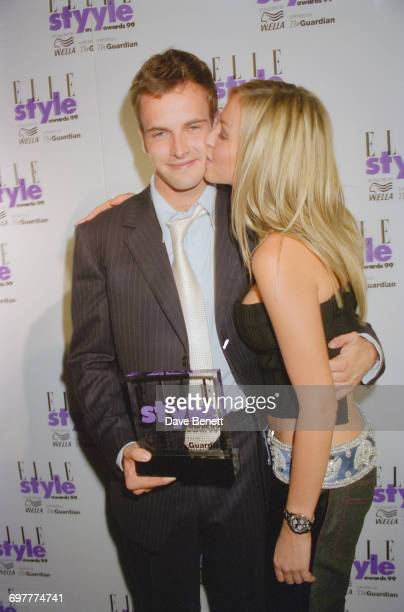 Actor Jonny Lee Miller and his girlfriend Natalie Appleton of girl group All Saints at the Elle Magazine Style Awards at the Home Club London 21st...