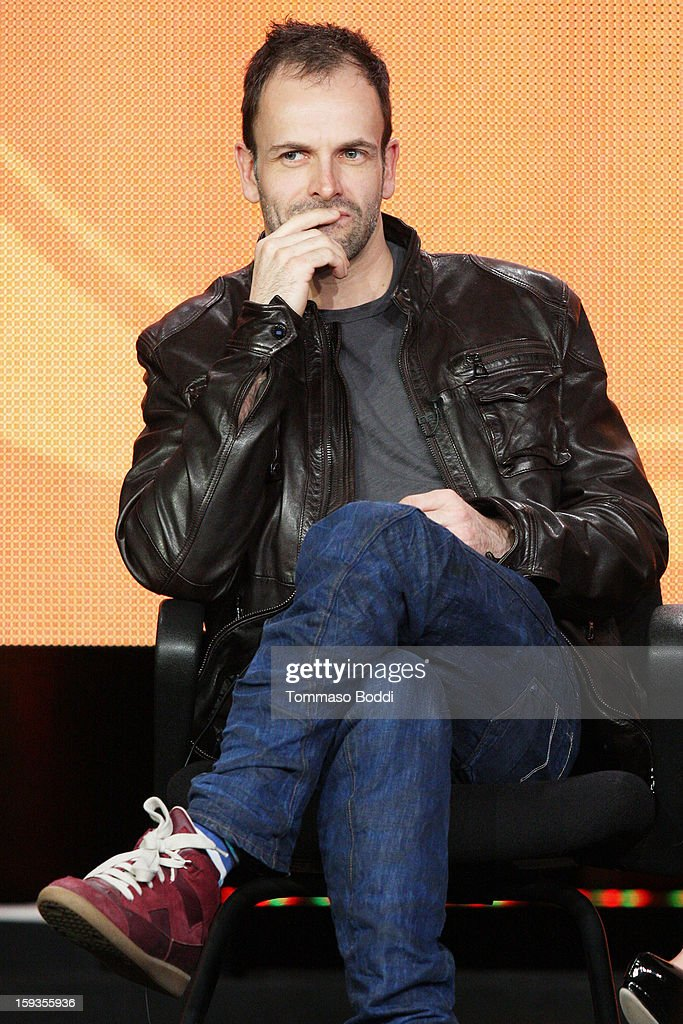 Actor Jonny Lee Miller of the TV show 'Elementary' attends the 2013 TCA Winter Press Tour CW/CBS panel held at The Langham Huntington Hotel and Spa on January 12, 2013 in Pasadena, California.