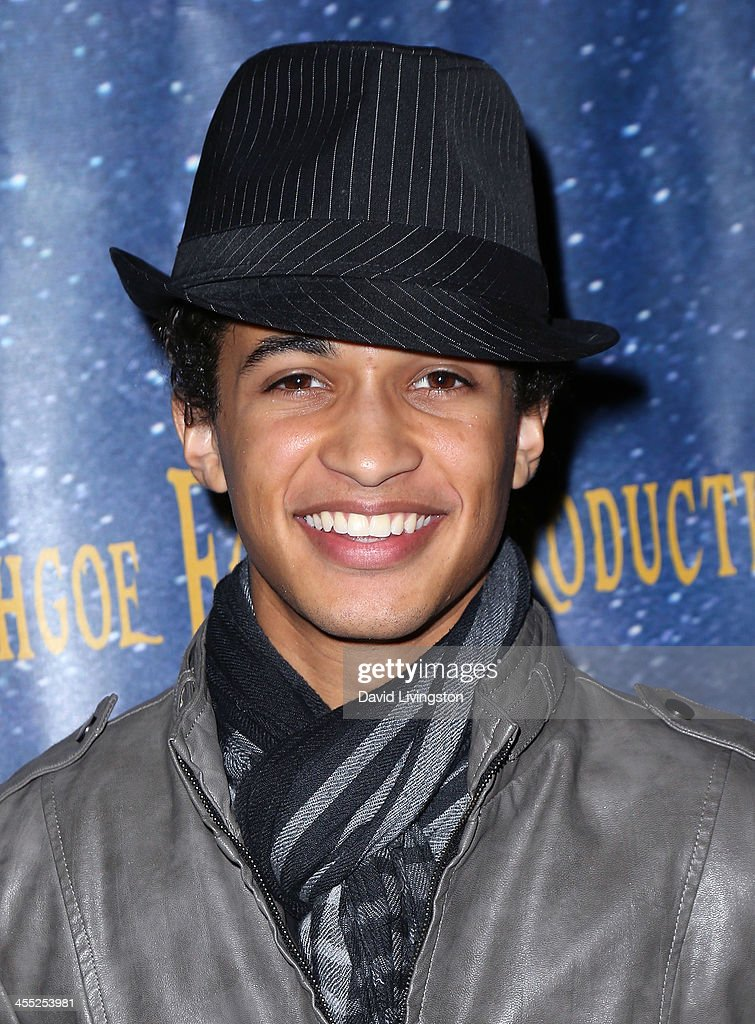 Actor Jordan Fisher attends 'Aladdin and His Winter Wish' opening night at the Pasadena Playhouse on December 11, 2013 in Pasadena, California.