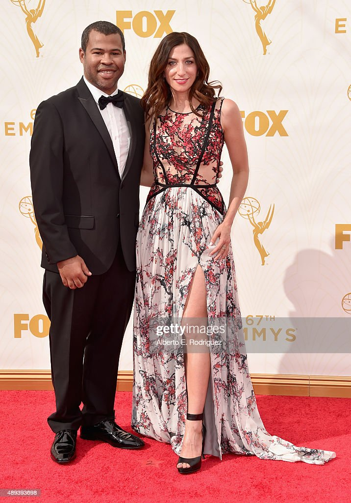 Actor Jordan Peele (L) and Chelsea Peretti attend the 67th Emmy Awards at Microsoft Theater on September 20, 2015 in Los Angeles, California. 25720_001