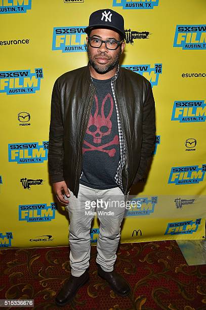 Actor Jordan Peele attends the screening of 'Keanu' during the 2016 SXSW Music Film Interactive Festival at Paramount Theatre on March 12 2016 in...
