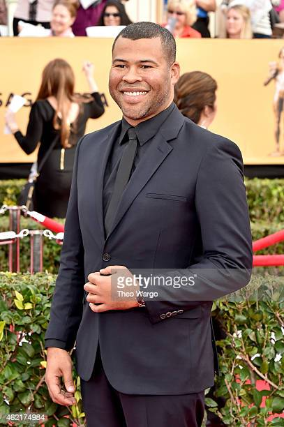 Actor Jordan Peele attends TNT's 21st Annual Screen Actors Guild Awards at The Shrine Auditorium on January 25 2015 in Los Angeles California...
