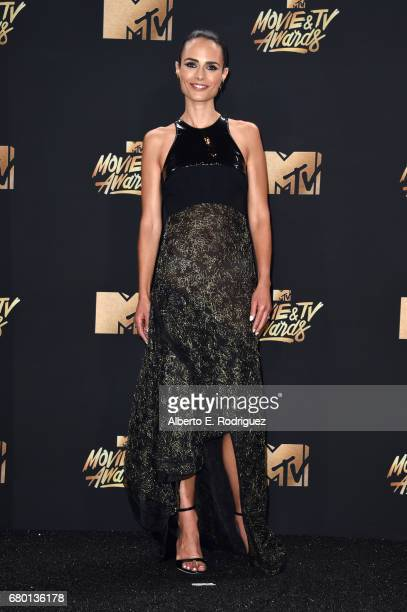 Actor Jordana Brewster winner of the Generation Award poses in the press room during the 2017 MTV Movie And TV Awards at The Shrine Auditorium on May...