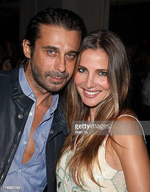 Actor Jordi Molla and actress Elsa Pataky attend a Meet Greet Reception with three Time World Club Champions Real Madrid CF at SLS Hotel on July 18...