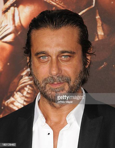 Actor Jordi Molla arrives at the Los Angeles premiere of 'Riddick' at the Westwood Village Theatre on August 28 2013 in Westwood California