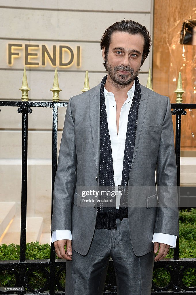 Actor <a gi-track='captionPersonalityLinkClicked' href=/galleries/search?phrase=Jordi+Molla&family=editorial&specificpeople=2160841 ng-click='$event.stopPropagation()'>Jordi Molla</a> attends the opening of Fendi's new boutique at 51 Avenue Montaine on July 3, 2013 in Paris, France.