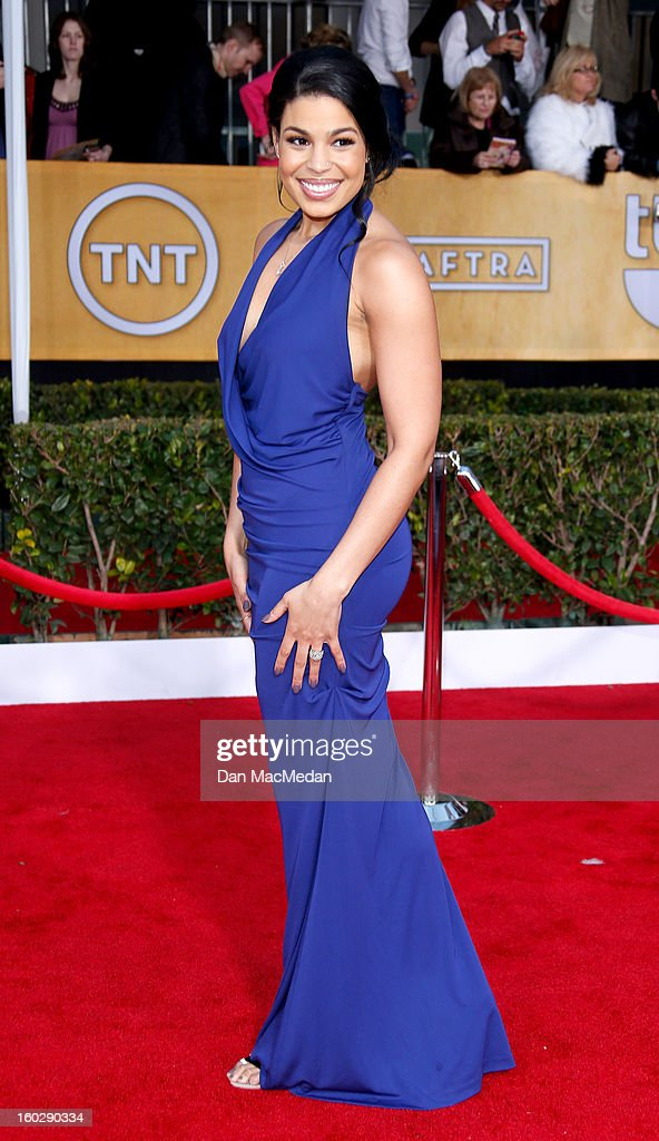 Actor Jordin Sparks arrives at the 19th Annual Screen Actors Guild Awards at the Shrine Auditorium on January 27, 2013 in Los Angeles, California.