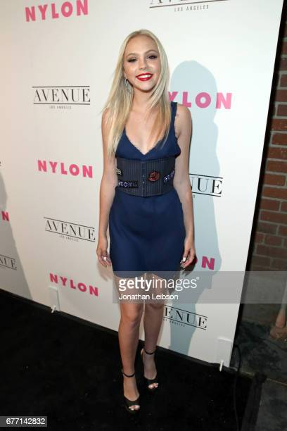 Actor Jordyn Jones at the NYLON Young Hollywood Party at AVENUE Los Angeles on May 2 2017 in Los Angeles California