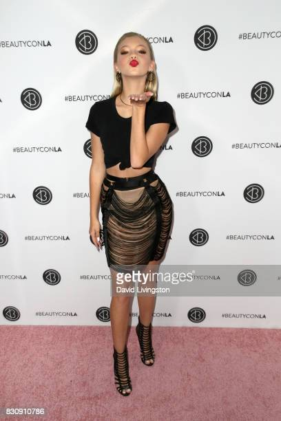 Actor Jordyn Jones attends Day 1 of the 5th Annual Beautycon Festival Los Angeles at the Los Angeles Convention Center on August 12 2017 in Los...