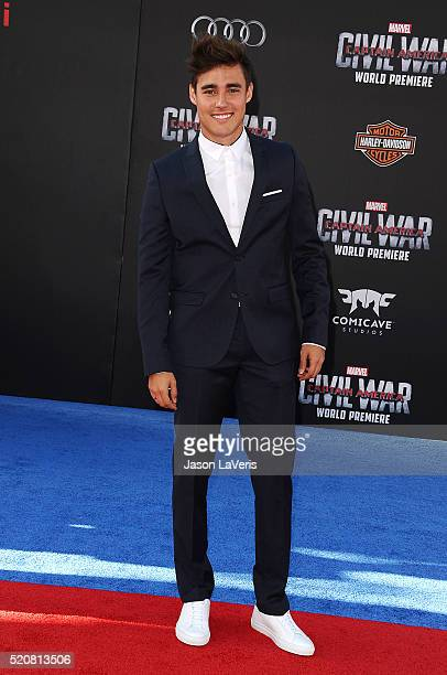Actor Jorge Blanco attends the premiere of 'Captain America Civil War' at Dolby Theatre on April 12 2016 in Hollywood California