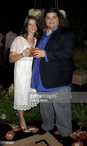 Actor Jorge Garcia and girlfriend Malia Hansen attend the after show party following the European Premiere of 'Pirates Of The Caribbean 2 Dead Man's...