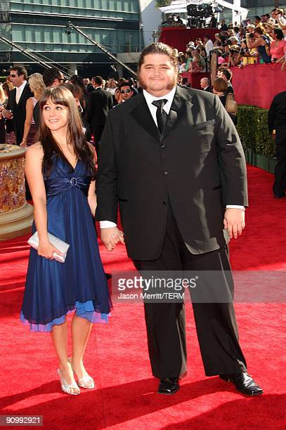 Actor Jorge Garcia and guest arrive at the 61st Primetime Emmy Awards held at the Nokia Theatre on September 20 2009 in Los Angeles California