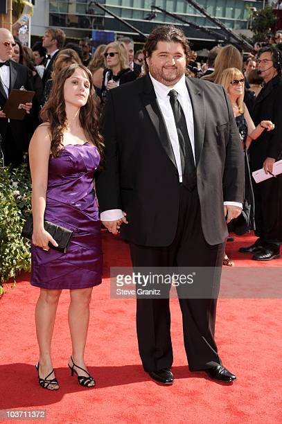 Actor Jorge Garcia and guest arrives at the 62nd Annual Primetime Emmy Awards held at the Nokia Theatre LA Live on August 29 2010 in Los Angeles...
